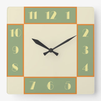 Art Deco Square Clock