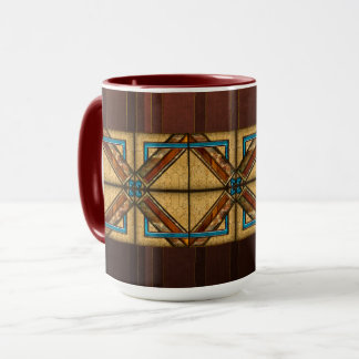 Art Deco Square Ornaments Mug