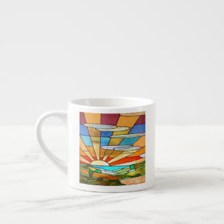 Art Deco Stained Glass 1 Espresso Cup