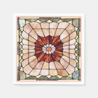 Art Deco Stained Glass 2 Disposable Napkin