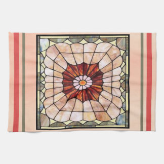 Art Deco Stained Glass 2 Tea Towel