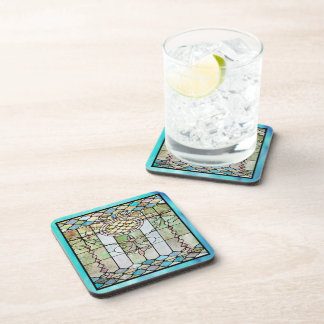 Art Deco Stained Glass 4 Coaster