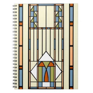 Art Deco Stained Glass Notebook