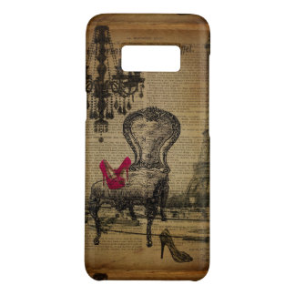 art deco stiletto paris eiffel tower Case-Mate samsung galaxy s8 case