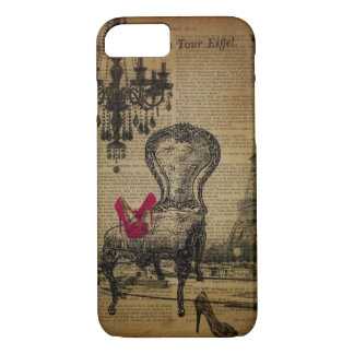 art deco stiletto paris eiffel tower iPhone 8/7 case