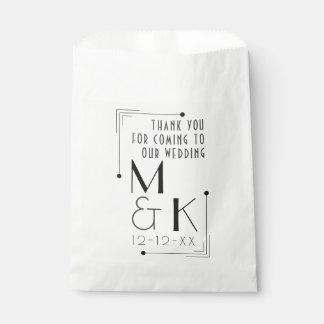 Art Deco Style 1920s Wedding Thank You Gift Bag