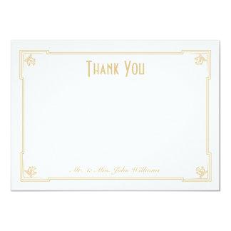 Art Deco Style Flat Thank You Note Card 11 Cm X 16 Cm Invitation Card