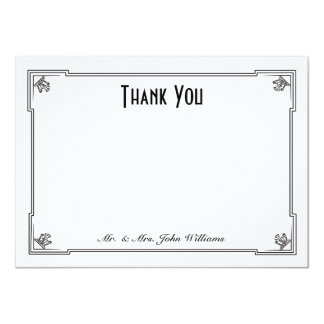 Art Deco Style Flat Thank You Note Card Personalized Invite