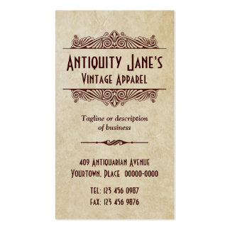 Art Deco Style Parchment Pack Of Standard Business Cards