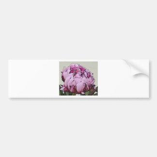 Art Deco Style Peony Flower Bumper Sticker