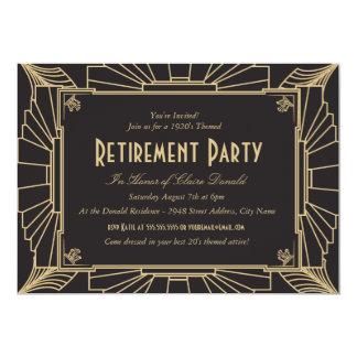 """Art Deco Style Retirement Party Invitation 5"""" X 7"""" Invitation Card"""