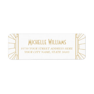 Art Deco Style Return Address Labels
