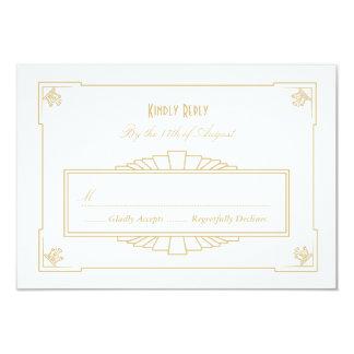 Art Deco Style RSVP Card