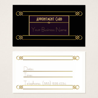 Art Deco Styled Black and Gold Business Card