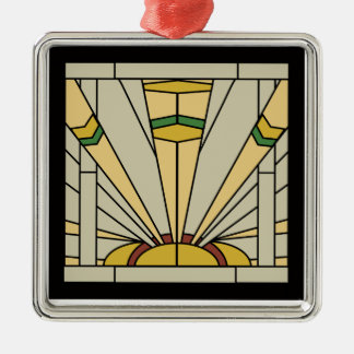 Art Deco Sunshine Metal Ornament