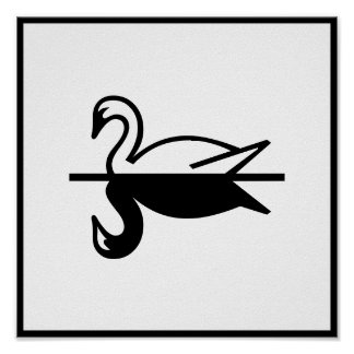 Art Deco Swan Poster