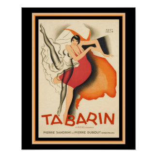 "Art Deco ""Tabarin"" Vintage Movie Poster 16 x 20"