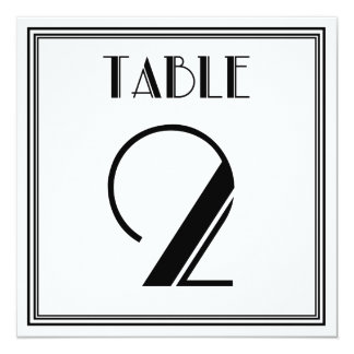 Art Deco Table Number 2 Card