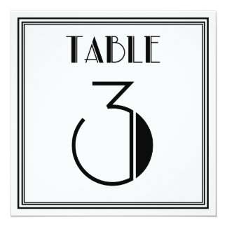 Art Deco Table Number 3