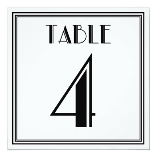 Art Deco Table Number 4