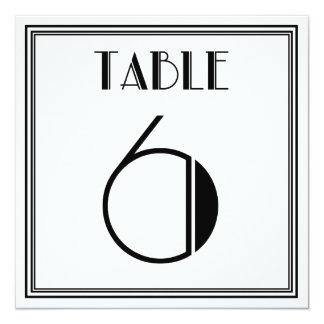 Art Deco Table Number 6