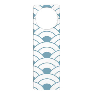 Art deco,teal,white,vintage,shell pattern,1920 era door hanger