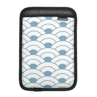 Art deco,teal,white,vintage,shell pattern,1920 era iPad mini sleeve