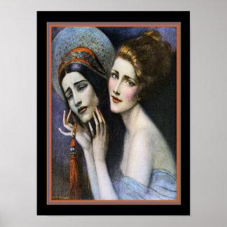 Art Deco Theatre Cover by W.T. Benda ca. 1922 Poster