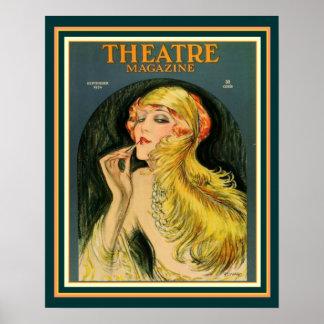 Art Deco Theatre Magazine Poster 16 x 20