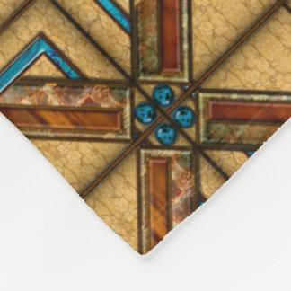 Art Deco Tiles Fleece Blanket