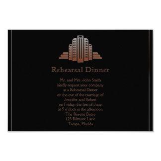 Art Deco Tower  Wedding Rehearsal Card