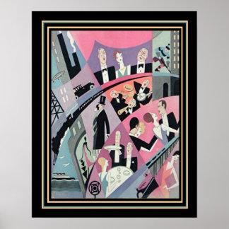 Art Deco Travel/Entertainment Print 16x20