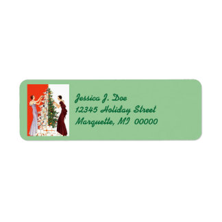 Art Deco Tree Trimming Decorating Christmas Labels