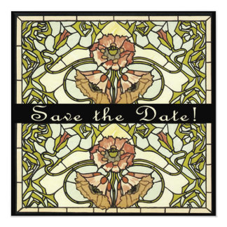Art Deco Two Sided Customizable Save the Date Card