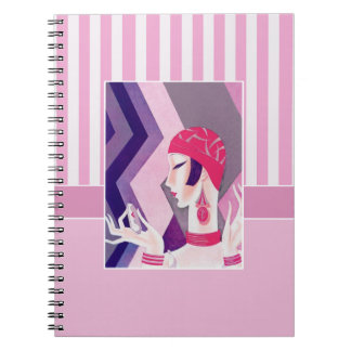 Art Deco Valentine's Day Gift Notebooks