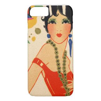 Art Deco Vamp, 1920s Flapper iPhone 7 Case