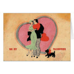 Art Deco Vintage ~ Be My Valentine Greeting Card