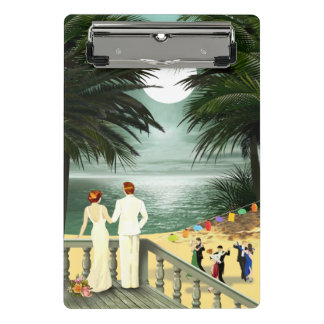 Art Deco Vintage Beach Mini Clipboard