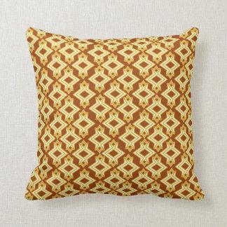 Art Deco Wallpaper Pattern, Golden Brown Cushion