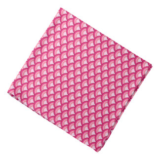 Art Deco wave pattern - fuchsia and coral Bandana