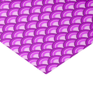 Art Deco wave pattern - shades of orchid Tissue Paper