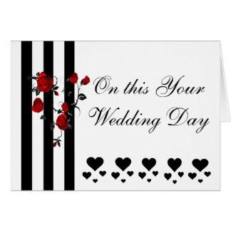 ART DECO WEDDING DAY GREETING CARD