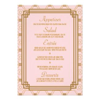 Art Deco Wedding Menu Cards