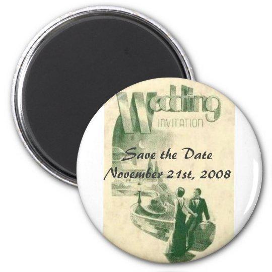 Art deco wedding, Save the ... Magnet