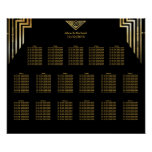Art Deco Wedding Seating Chart Gatsby Style Poster