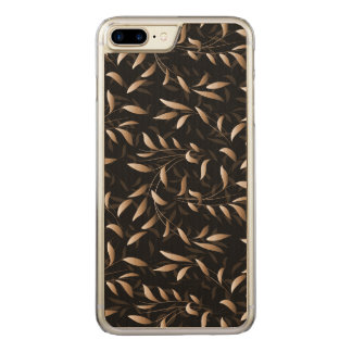 Art Deco Willow Leaf Pattern Carved iPhone 7 Plus Case