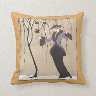 Art Deco Winter Scene Cushion