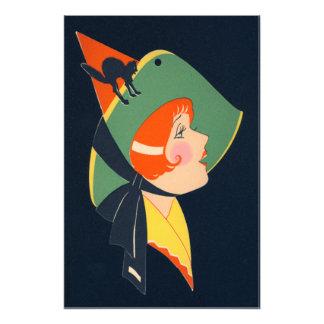 Art Deco Witch Hat Black Cat Photograph