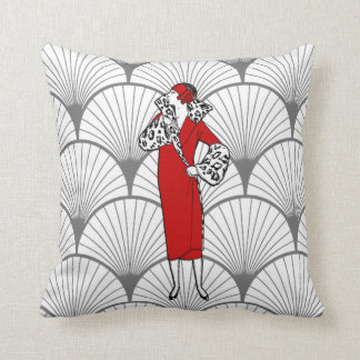 Art Deco Women's Fashion Pillow