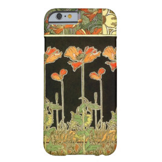 Art décoratifs (orange flowers) by Alphonse Mucha Barely There iPhone 6 Case